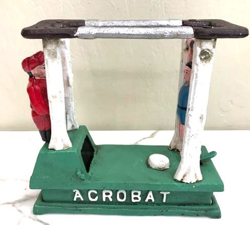 Mechanical Acrobat Cast Iron Bank