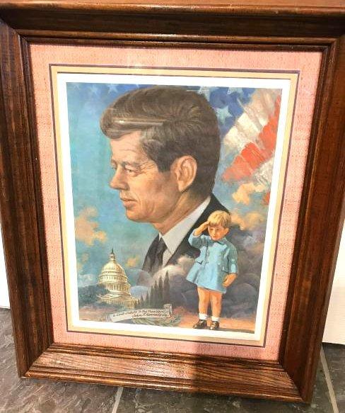 Vintage John F. Kennedy Framed Print, Arthur Freeman