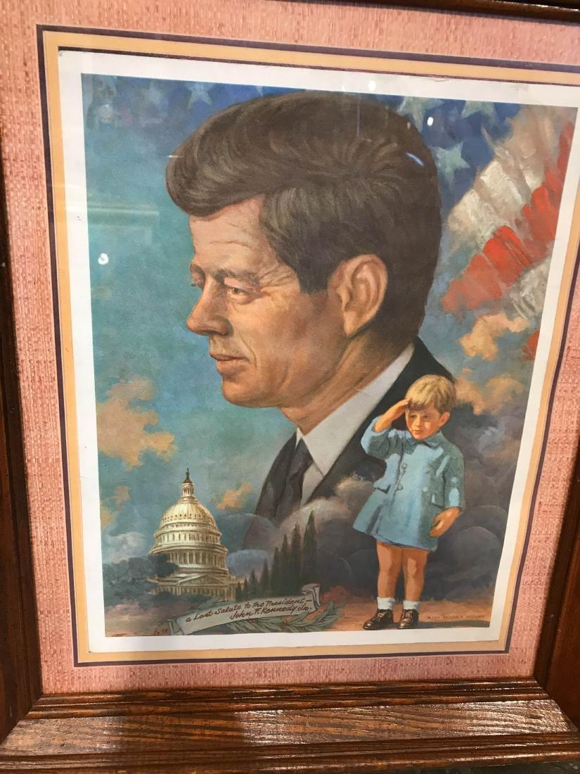 Vintage John F. Kennedy Framed Print, Arthur Freeman - 2