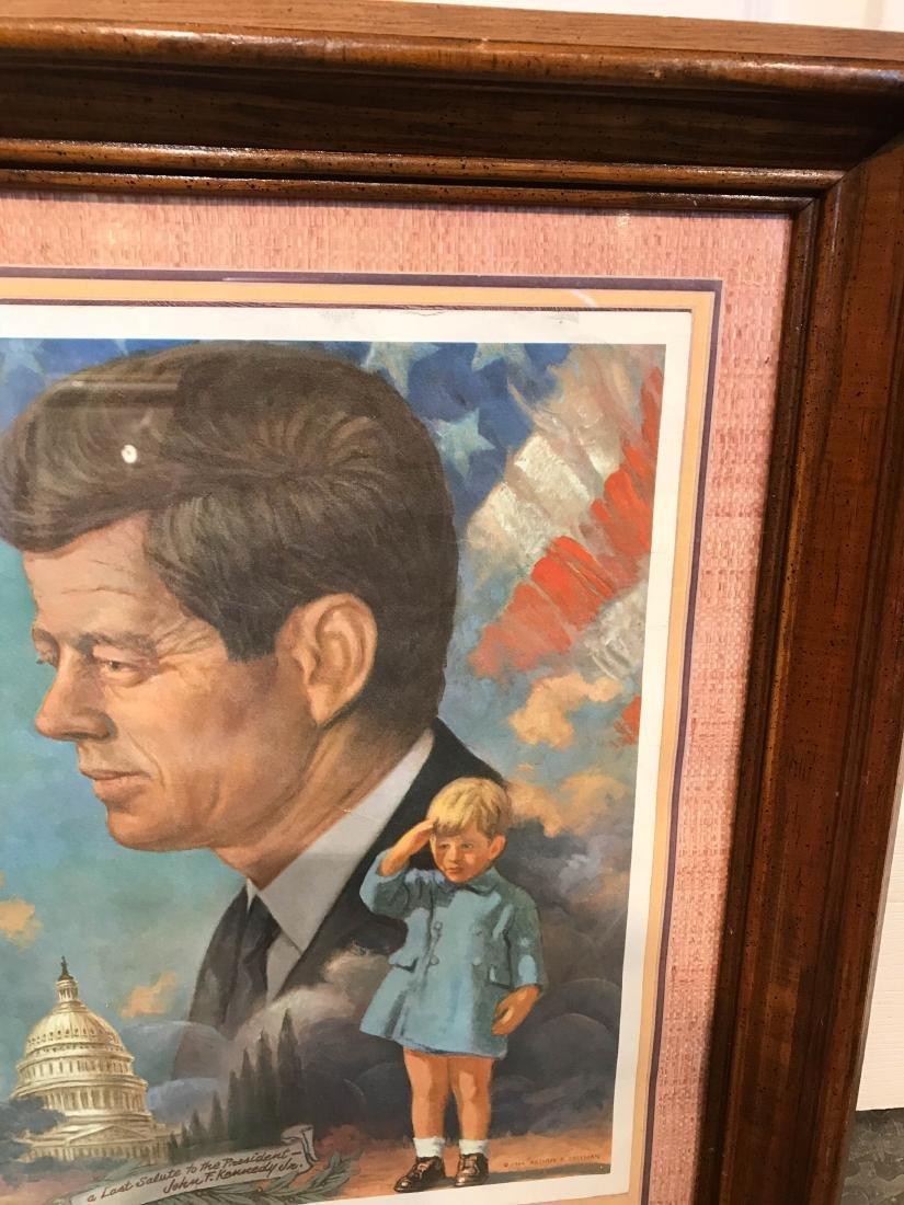 Vintage John F. Kennedy Framed Print, Arthur Freeman - 3