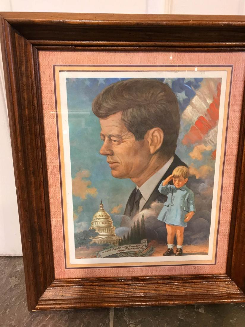 Vintage John F. Kennedy Framed Print, Arthur Freeman - 4