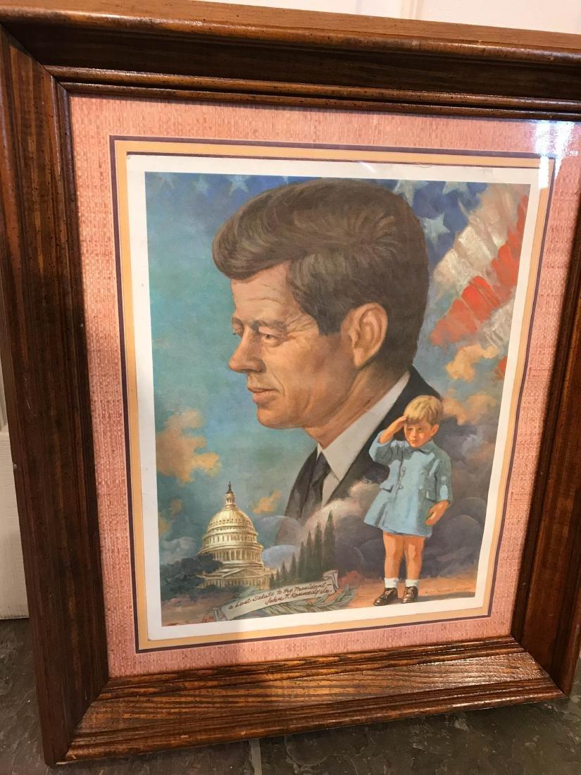 Vintage John F. Kennedy Framed Print, Arthur Freeman - 6