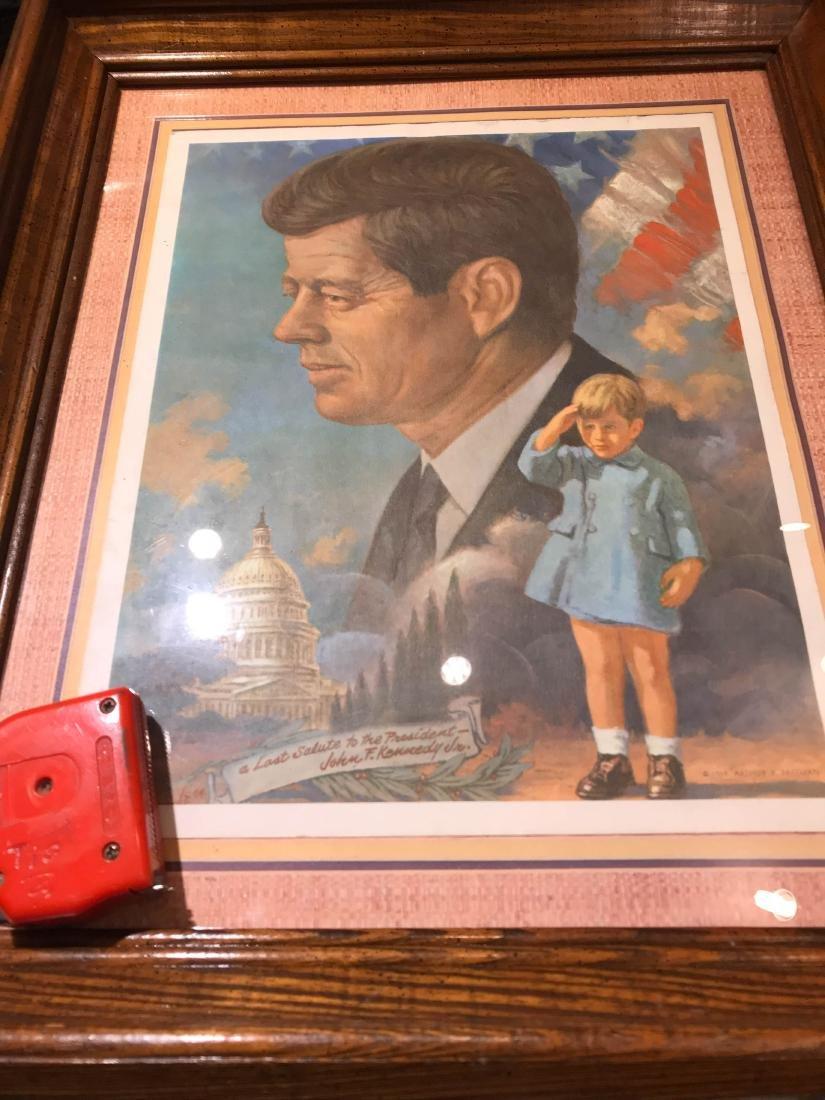 Vintage John F. Kennedy Framed Print, Arthur Freeman - 8