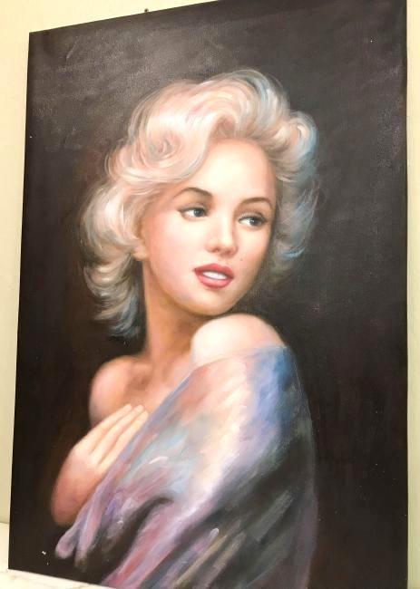Portrait of Marilyn Monroe Oil on Canvas