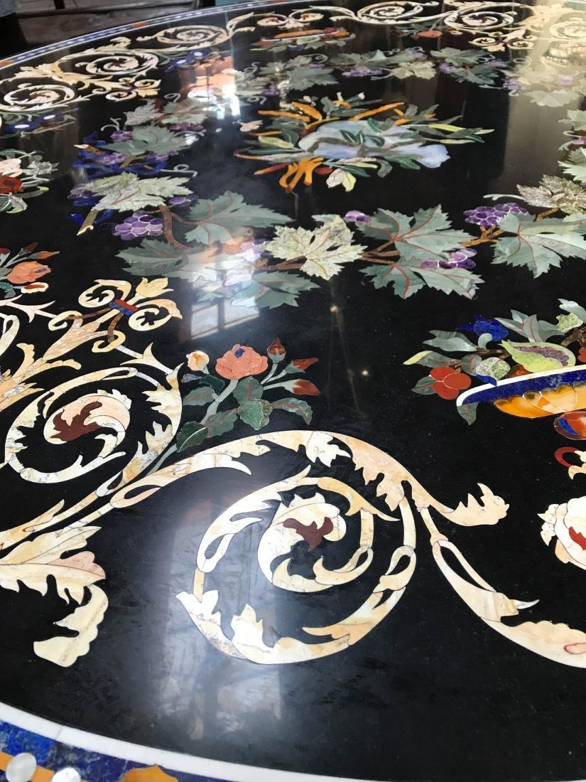 Round Pietra Dura Mosaic Table, Signed - 4