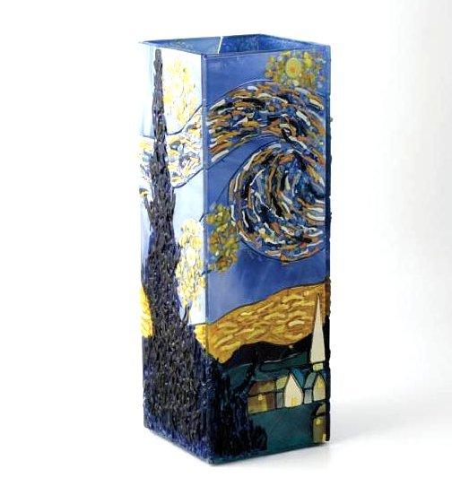 Mosaic Glass Vase with Van Gogh's Starry Night