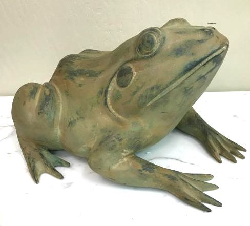 Bronze Statue/Fountain of a Sitting Frog