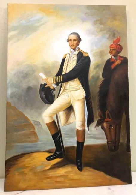 Oil on Canvas Painting of George Washington