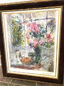 Marc Chagall Print of Bouquet of Flowers Lmd Ed