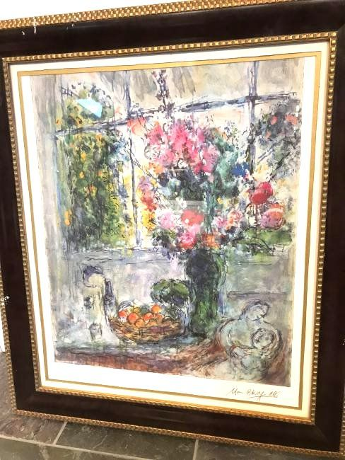 Marc Chagall Print of Bouquet of Flowers, Lmd. Ed.