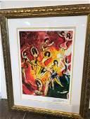 """Triumph of Music"" Lmd Ed. Marc Chagall Print"