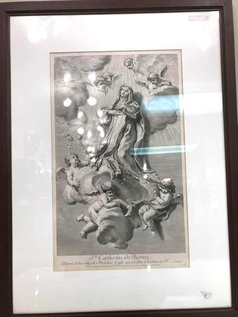 19th Century Framed Religious Scene