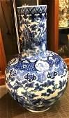 Large Chinese Vase with Blue Underglaze