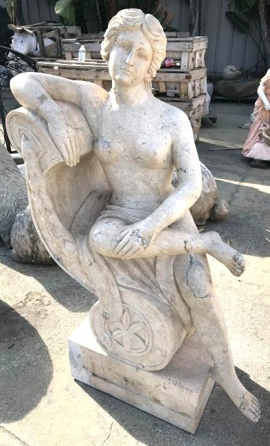 Roman Style Marble Statue of Nude Woman