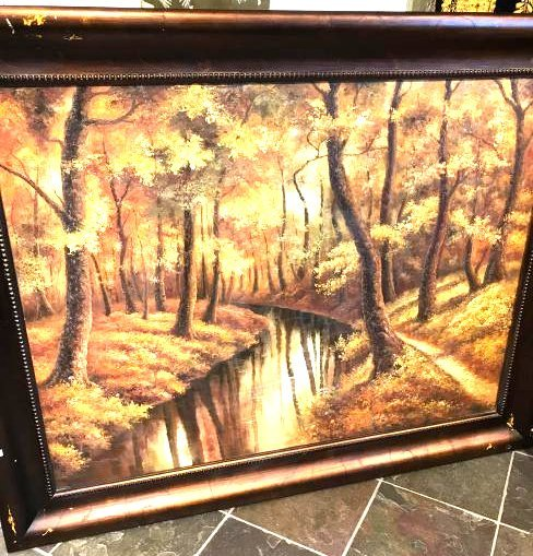 Oil on Canvas Painting of an Autumn Scene