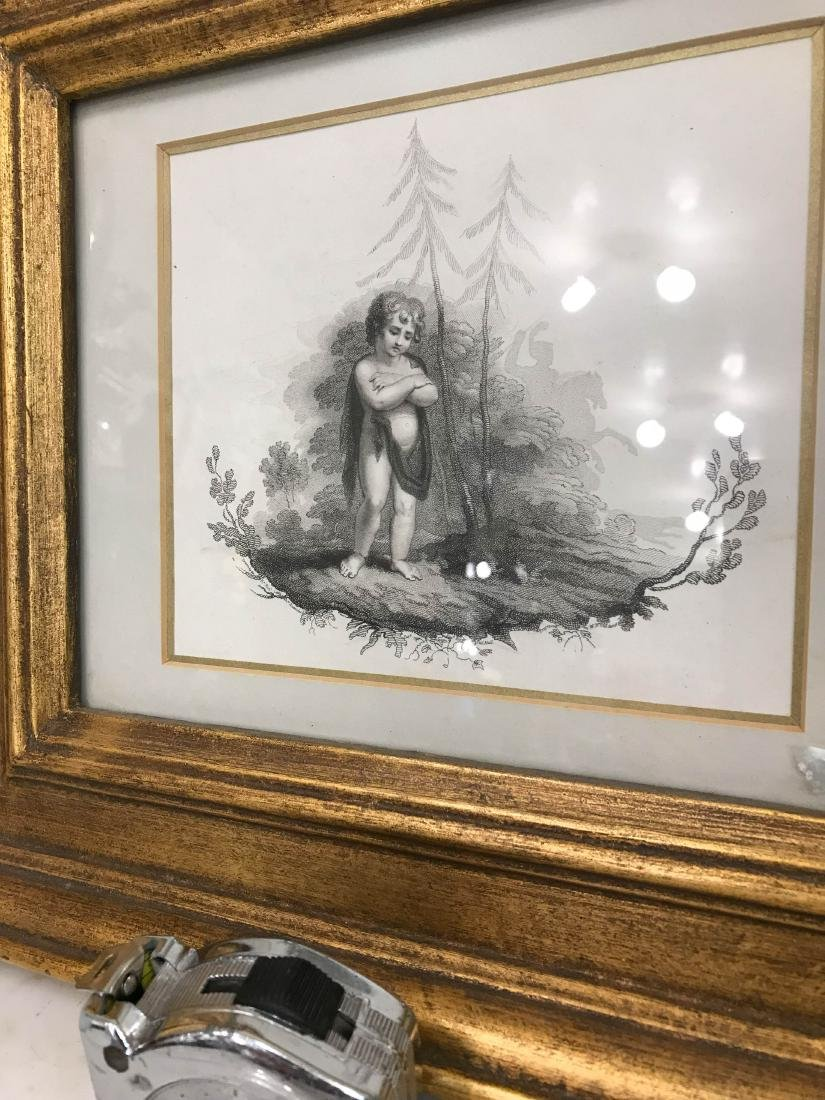 Vintage Boy in the Woods Scene, Framed - 7