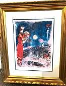 King David w the Artist Marc Chagall Lmd Ed Print