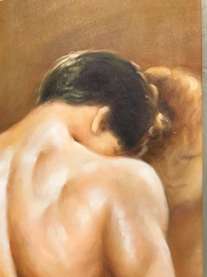 Oil on Canvas of Nude Man, Unframed - 2