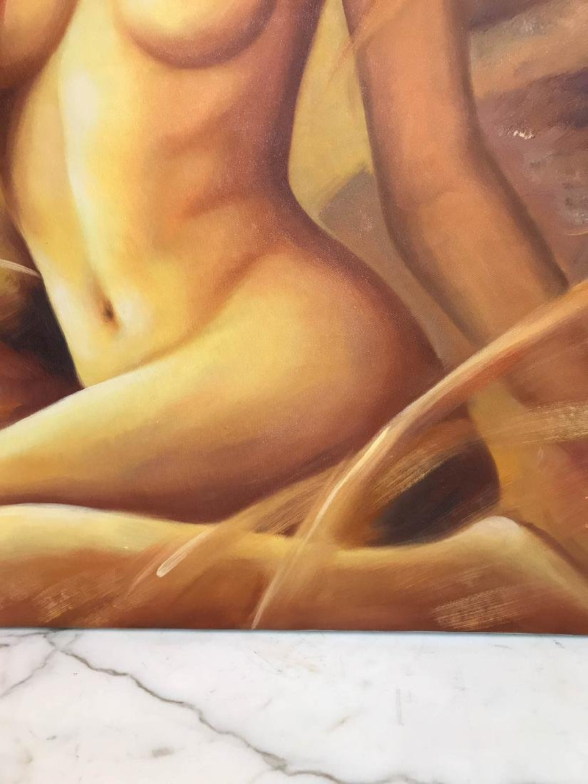 Oil on Canvas of Nude Beauty - 4