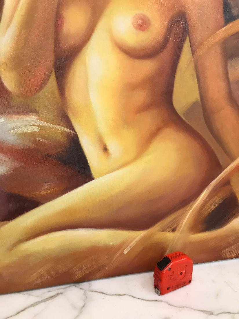 Oil on Canvas of Nude Beauty - 7