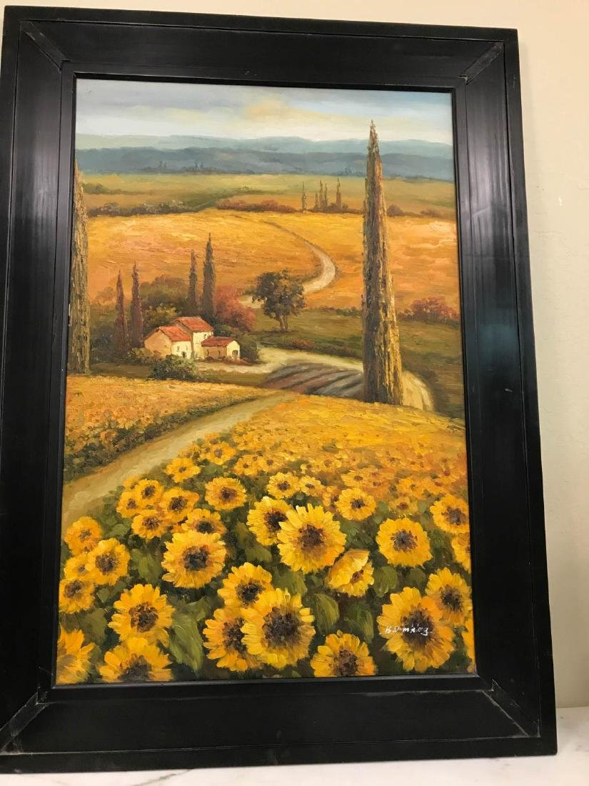 Oil on Canvas Painting of a Italian Countryside