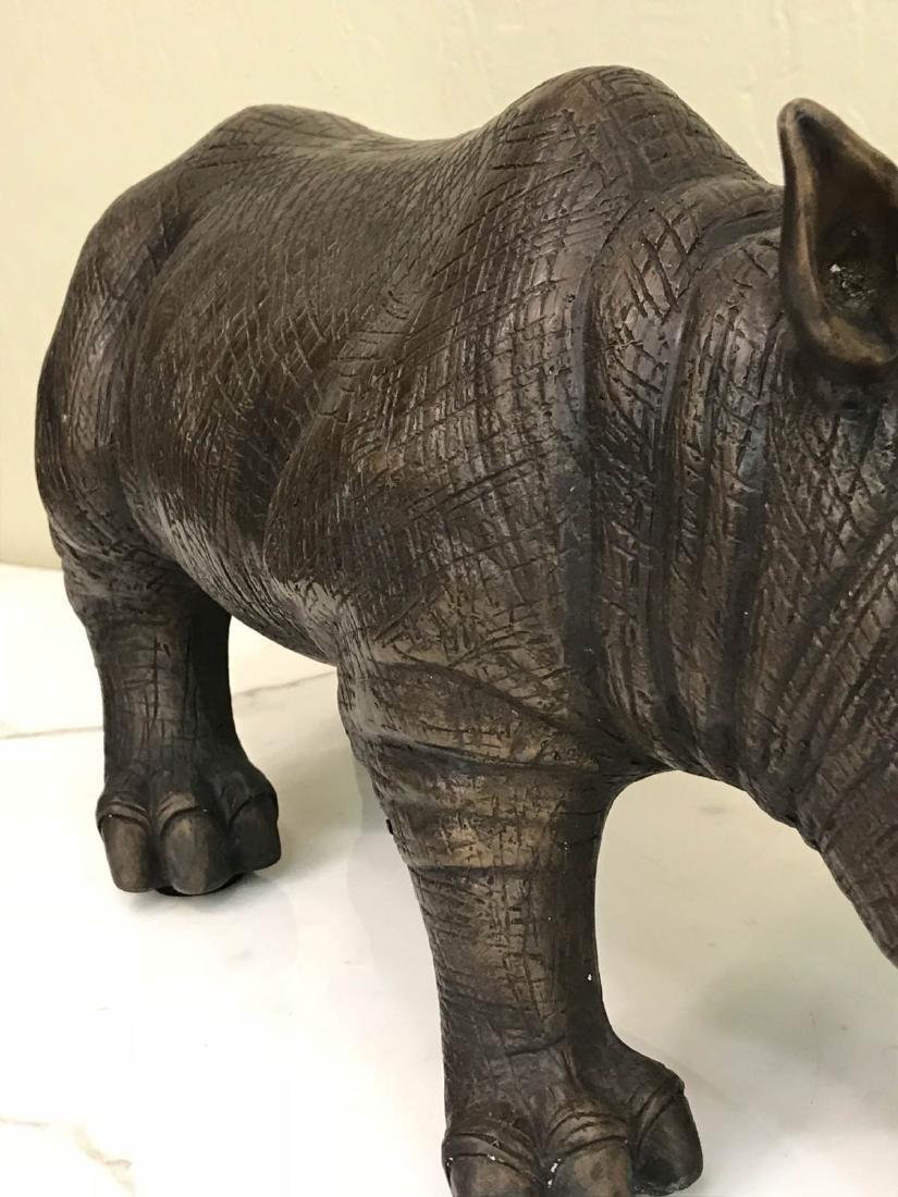 Bronze Rhino Statue w/ Exceptional Details - 10