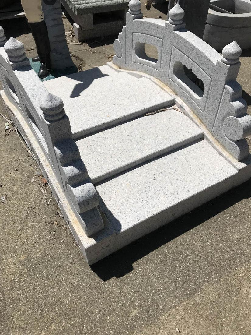 Hand-Carved Granite Garden Bench