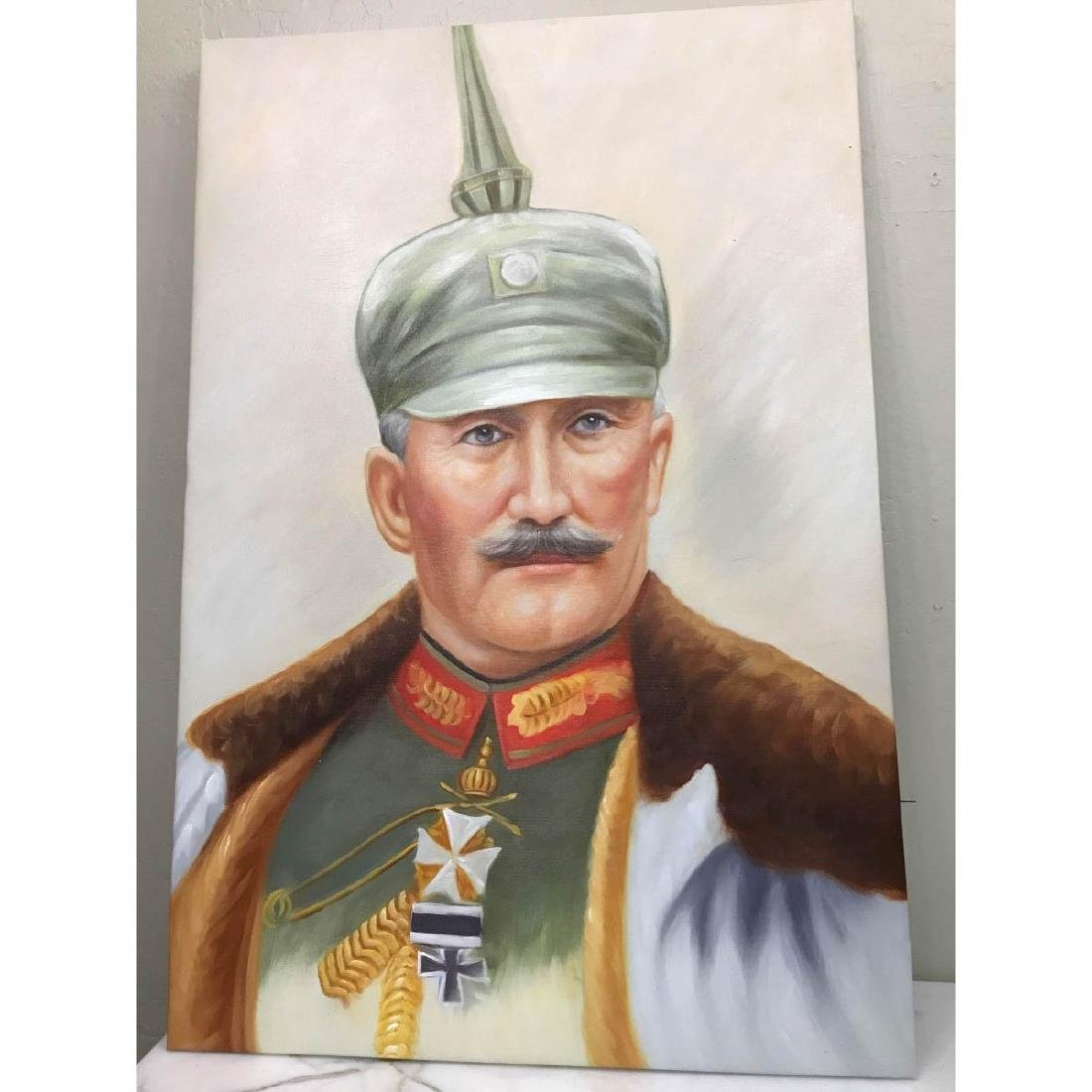 Oil on Canvas Portrait of Kaiser of Germany, Wilhelm II