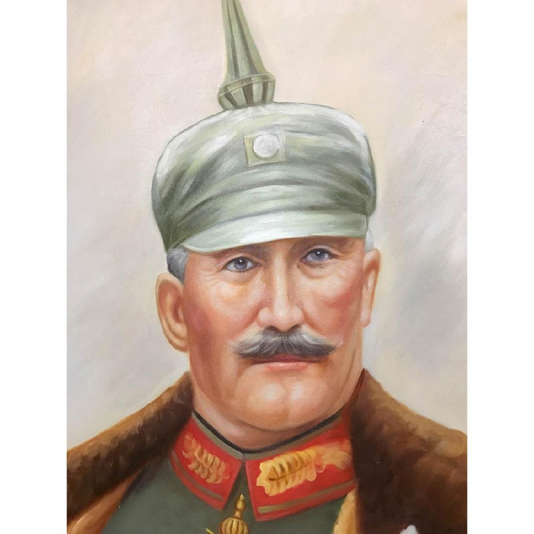 Oil on Canvas Portrait of Kaiser of Germany, Wilhelm II - 2