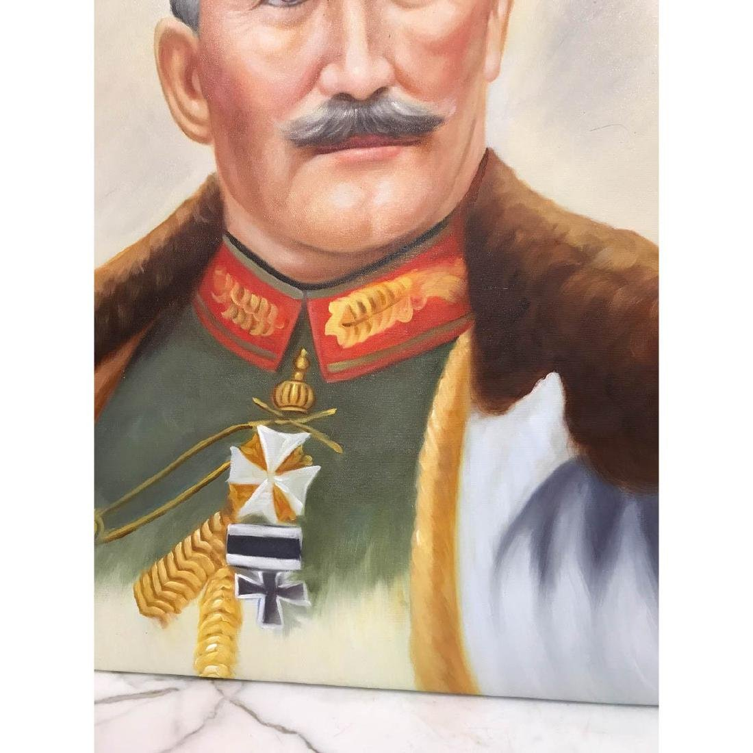 Oil on Canvas Portrait of Kaiser of Germany, Wilhelm II - 3