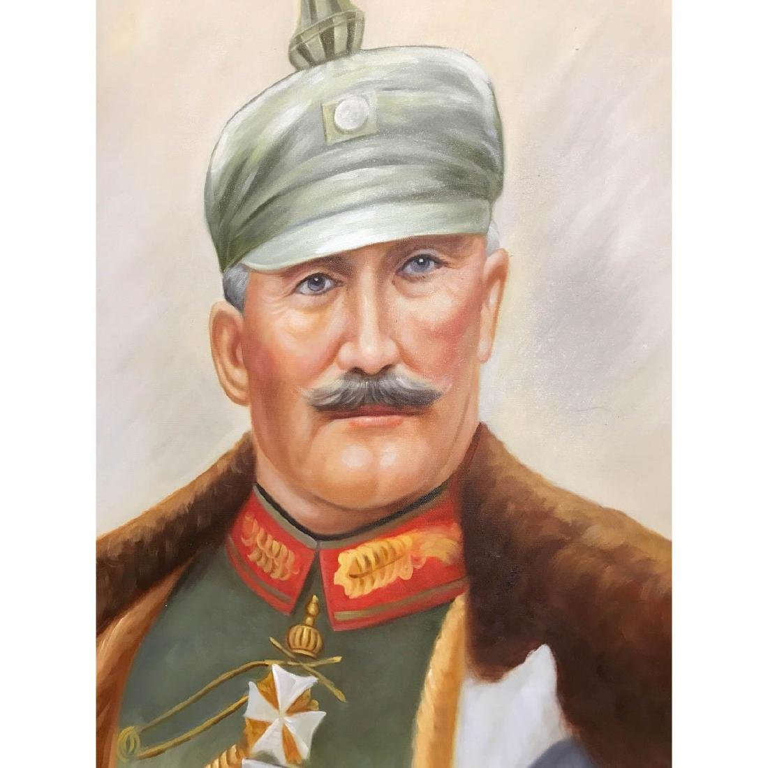 Oil on Canvas Portrait of Kaiser of Germany, Wilhelm II - 4