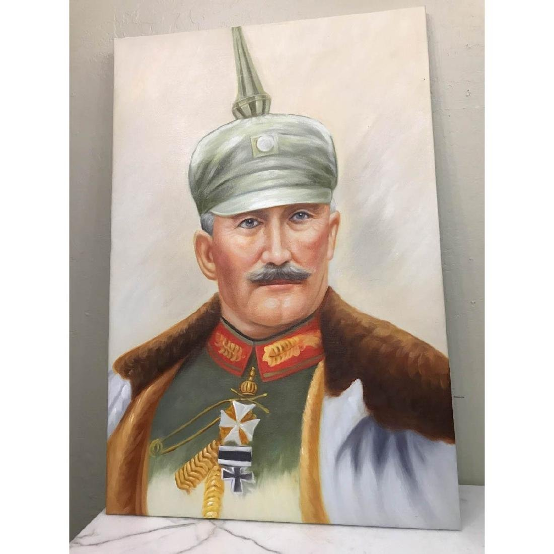Oil on Canvas Portrait of Kaiser of Germany, Wilhelm II - 5