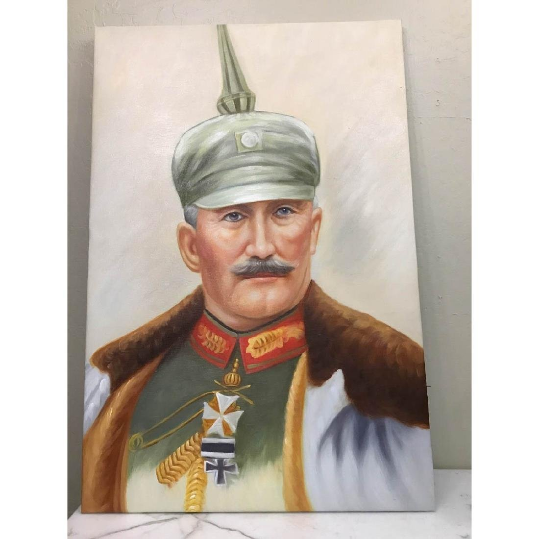 Oil on Canvas Portrait of Kaiser of Germany, Wilhelm II - 6