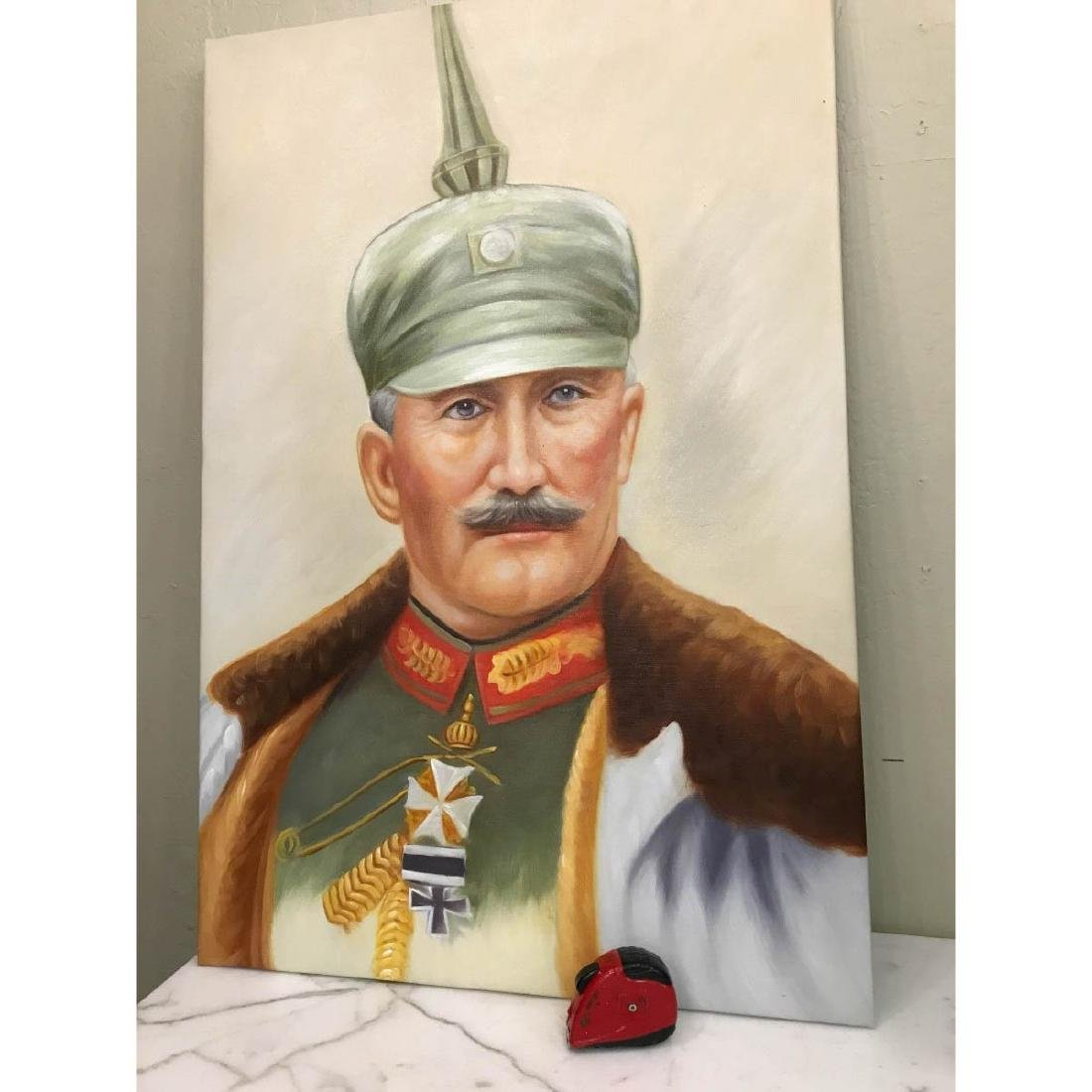 Oil on Canvas Portrait of Kaiser of Germany, Wilhelm II - 7