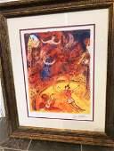 Circus Marc Chagall Print Framed