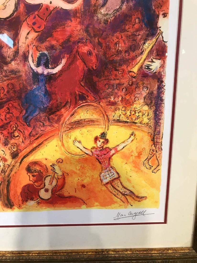 """Circus"" Marc Chagall Print, Framed - 6"