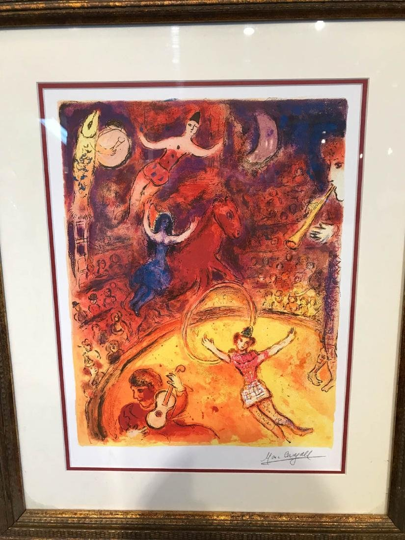 """Circus"" Marc Chagall Print, Framed - 7"