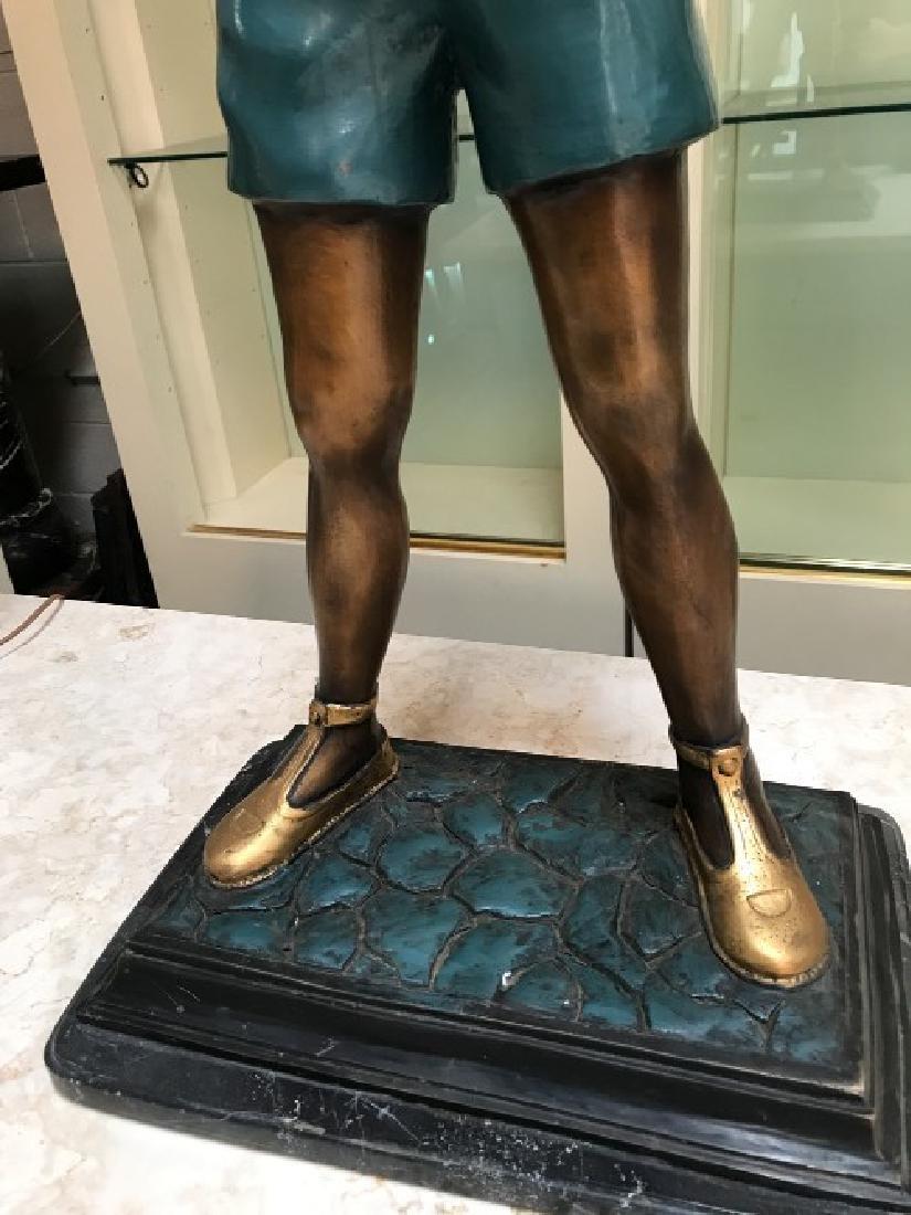 Bronze Statue of Boy w/ Book by Anton Murene - 3