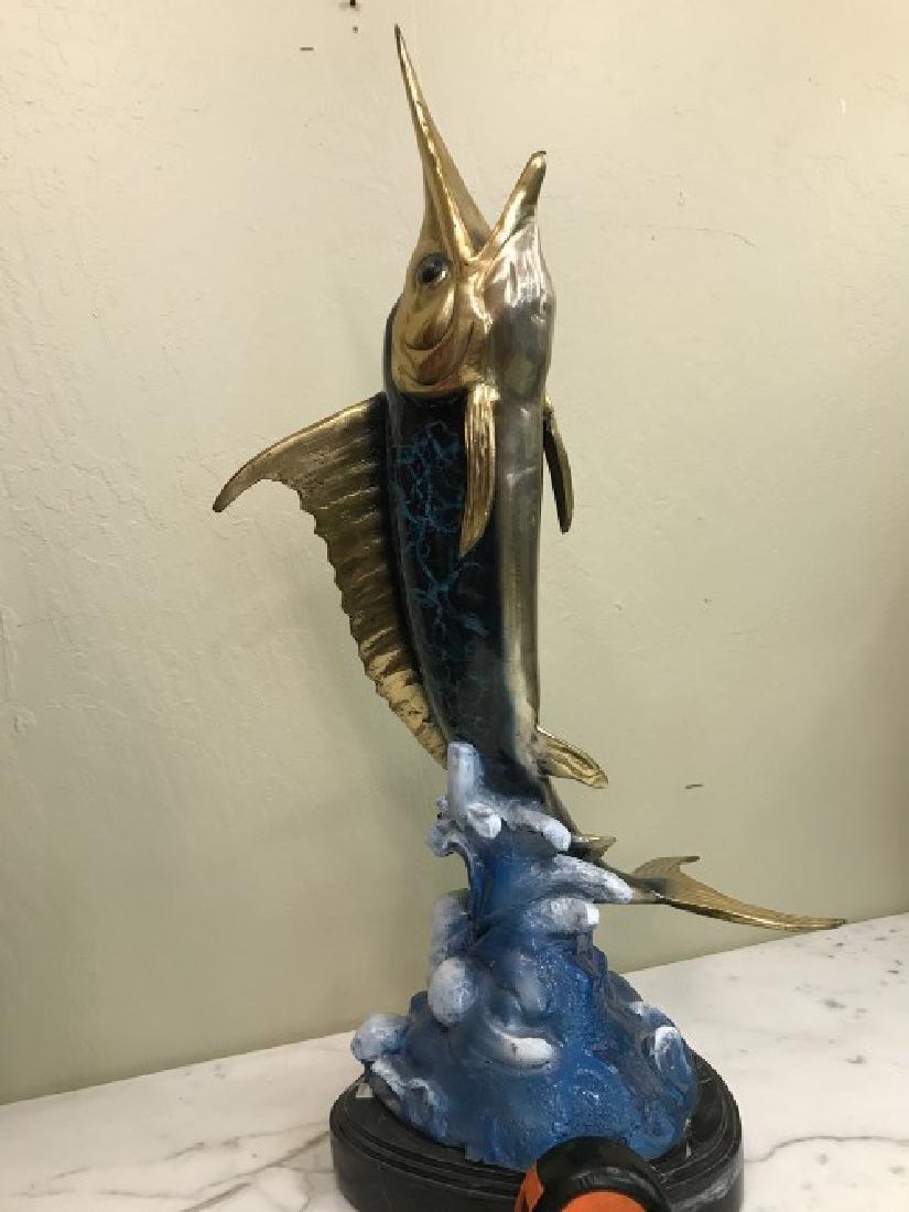 Multi-Patinated Bronze Swordfish Statue - 6
