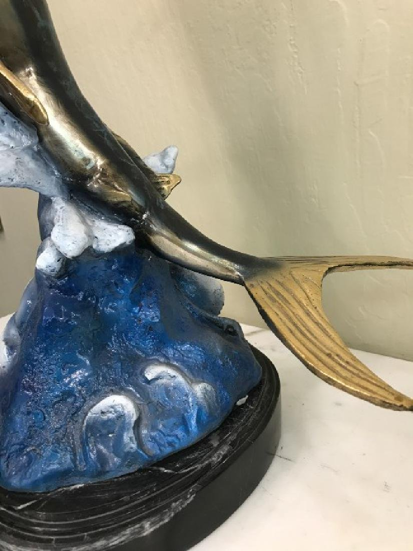 Multi-Patinated Bronze Swordfish Statue - 9