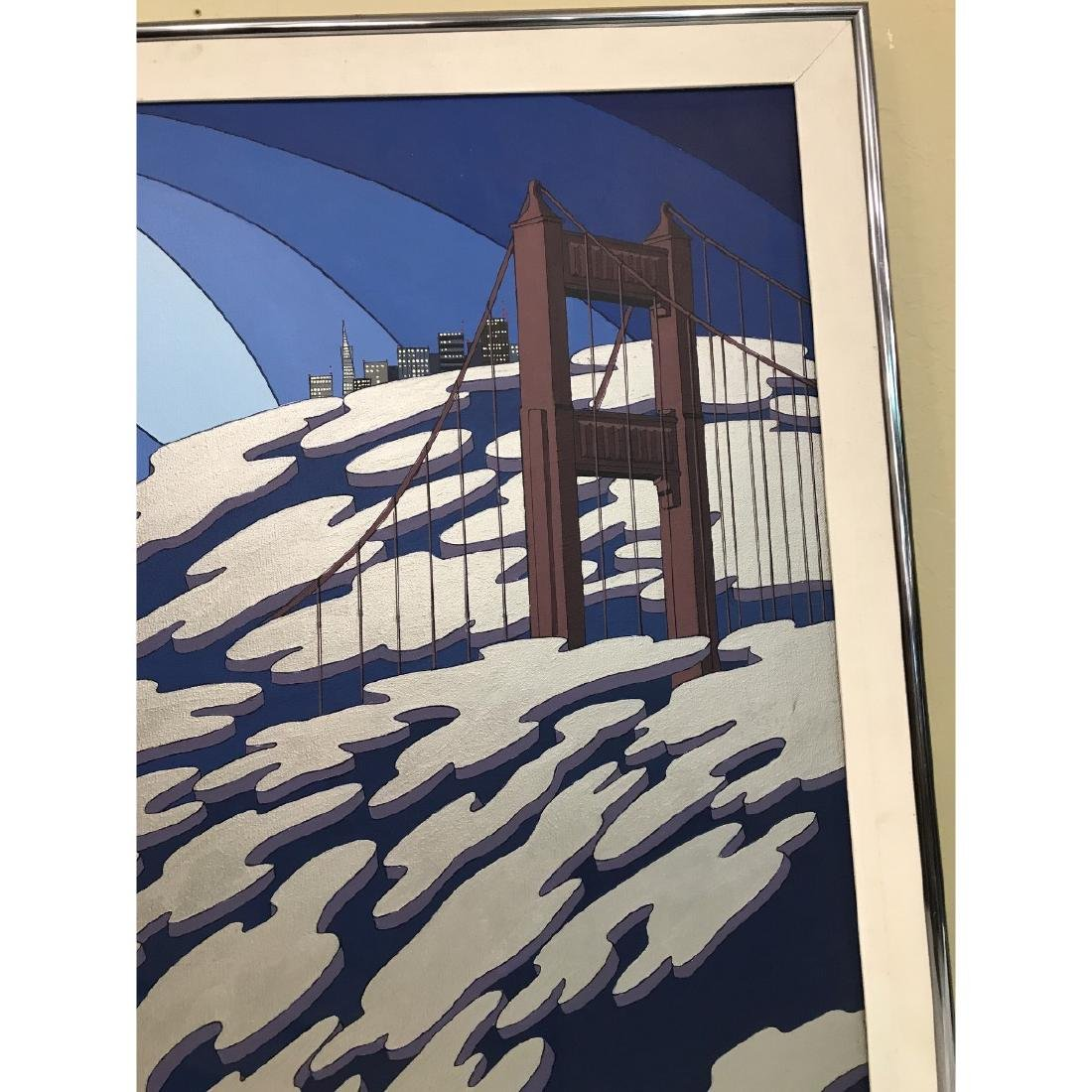 Oil on Canvas Painting of San Francisco by Charles - 2
