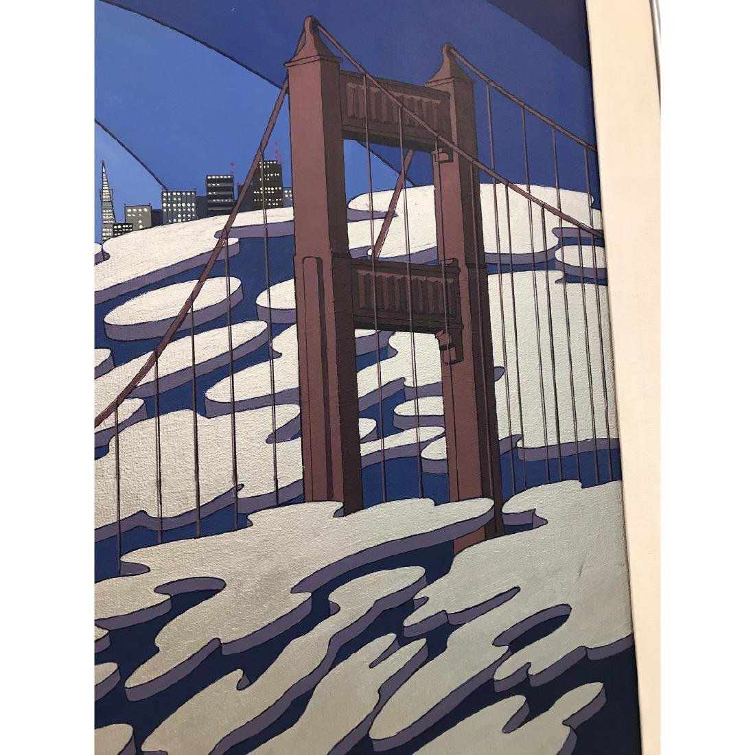 Oil on Canvas Painting of San Francisco by Charles - 5