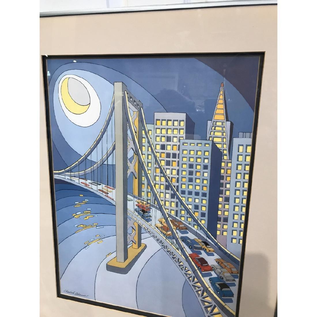 San Francisco Bridge Scene Lmd. Ed. Print by Charles - 2