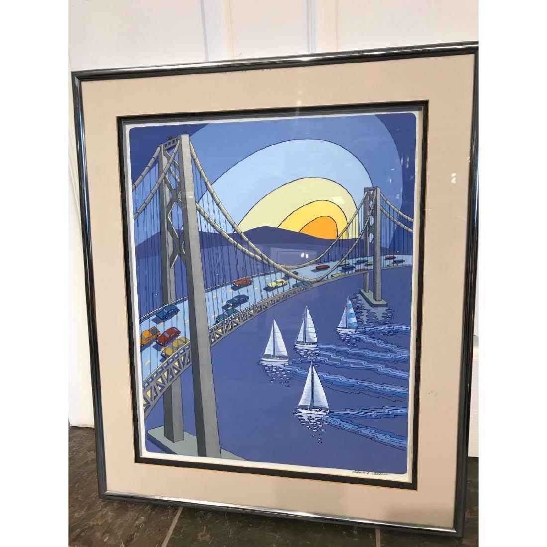 San Francisco Bridge Scene Print by Charles Adams