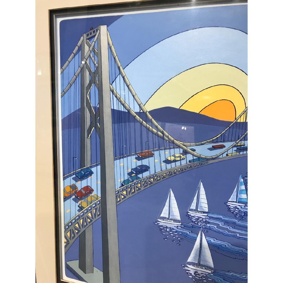 San Francisco Bridge Scene Print by Charles Adams - 2