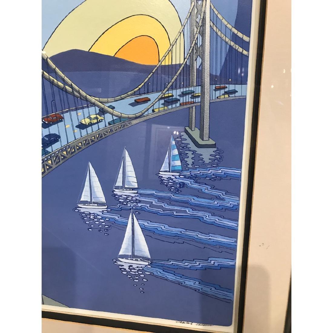 San Francisco Bridge Scene Print by Charles Adams - 3