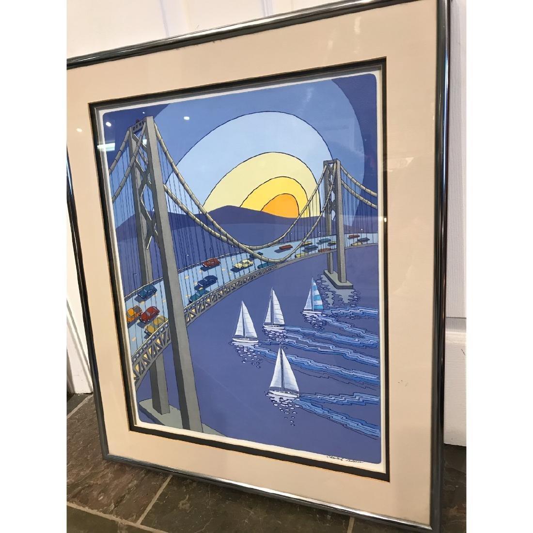 San Francisco Bridge Scene Print by Charles Adams - 6