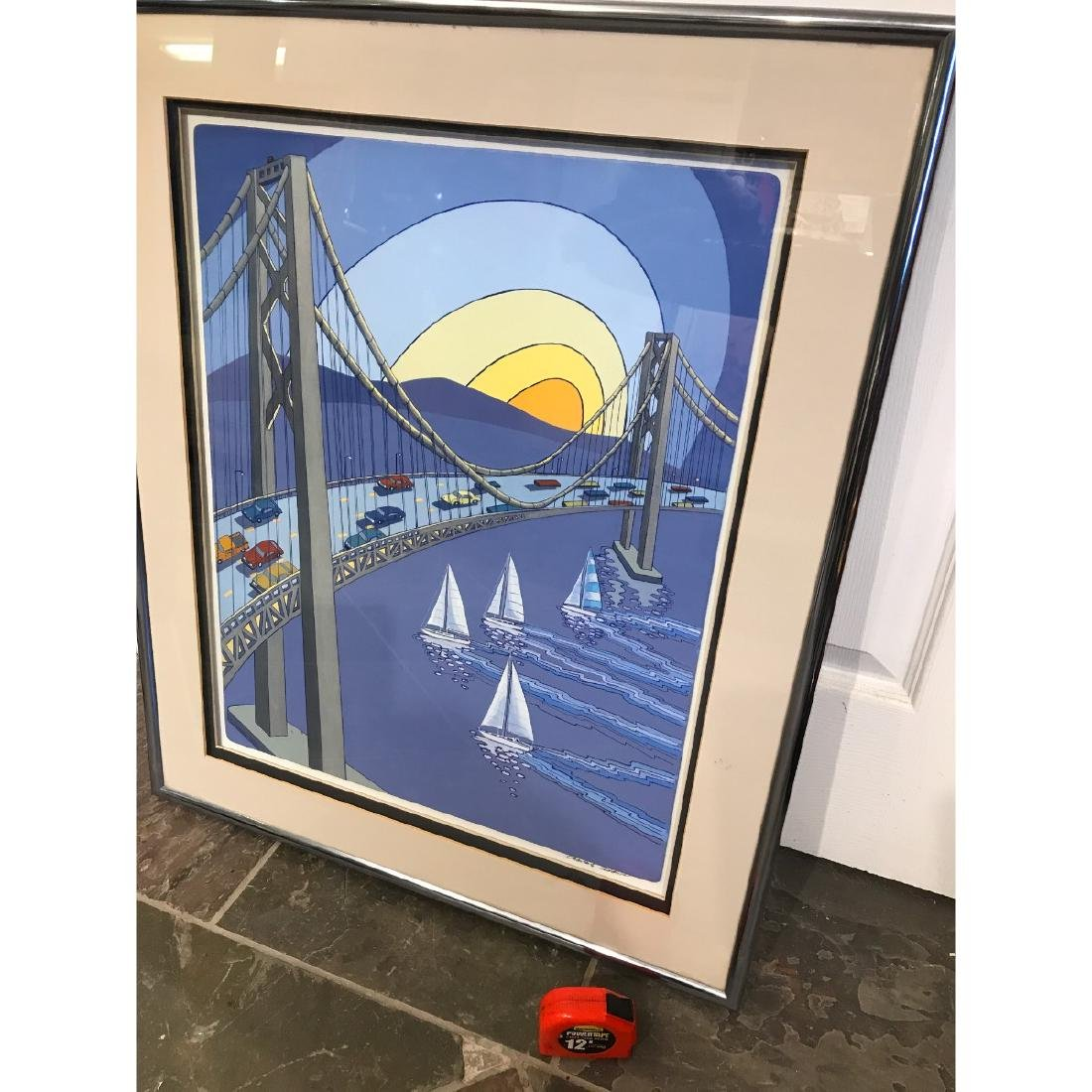 San Francisco Bridge Scene Print by Charles Adams - 7