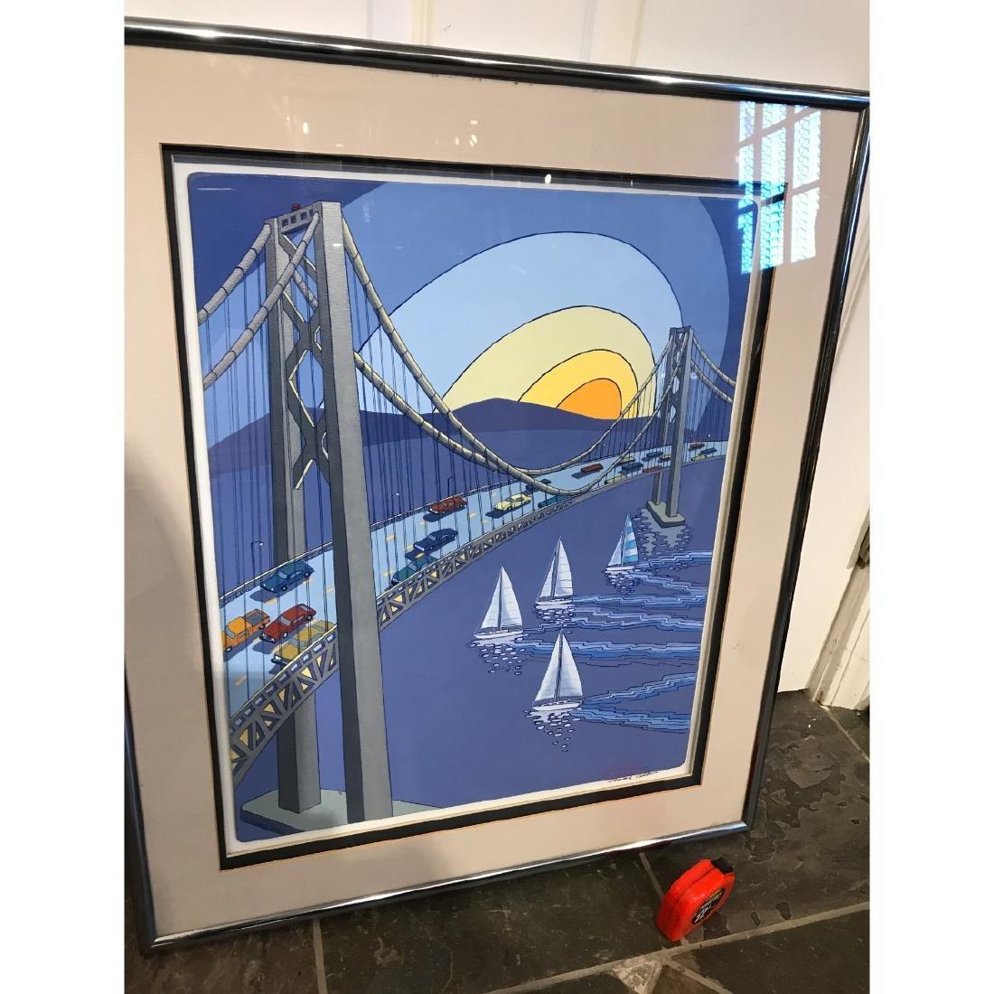 San Francisco Bridge Scene Print by Charles Adams - 9