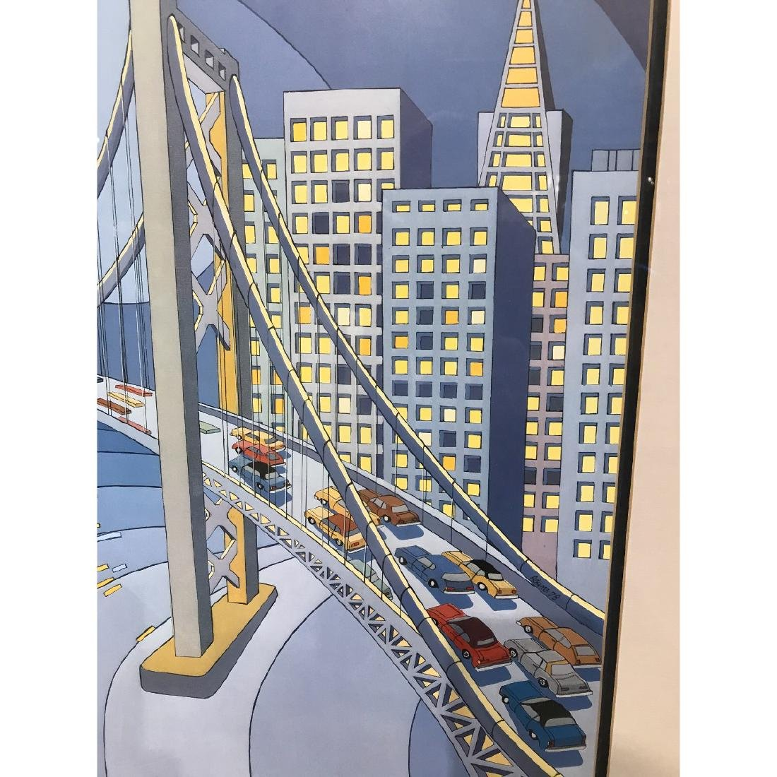 San Francisco Bridge Scene Lmd. Ed. Print by Charles - 2